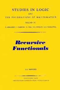Recursive Functionals - 1st Edition - ISBN: 9780444894472, 9780080887173