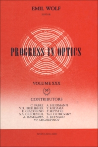 Progress in Optics - 1st Edition - ISBN: 9780444895448, 9780080962894
