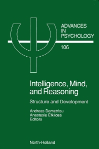Intelligence, Mind, and Reasoning, 1st Edition,A. Demetriou,A. Efklides,ISBN9780444897145