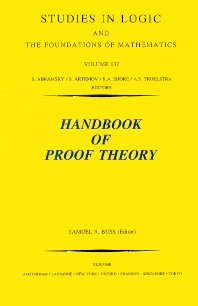 Handbook of Proof Theory, 1st Edition,S.R. Buss,ISBN9780444898401