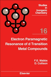 Cover image for Electron Paramagnetic Resonance of d Transition Metal Compounds