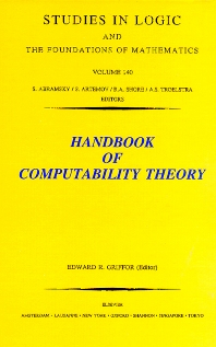 Cover image for Handbook of Computability Theory