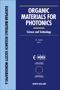 Organic Materials for Photonics - 1st Edition - ISBN: 9780444899163, 9781483291536