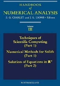 Cover image for Techniques of Scientific Computing (Part 1) - Solution of Equations in R<sup>n</sup>
