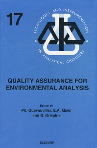 Quality Assurance for Environmental Analysis - 1st Edition - ISBN: 9780444899552, 9780080540078