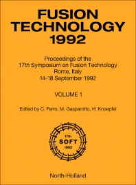 Fusion Technology 1992 - 1st Edition - ISBN: 9780444899958, 9781483294100