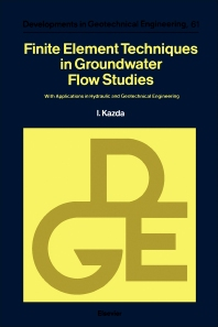 Cover image for Finite Element Techniques in Groundwater Flow Studies