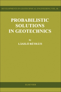 Cover image for Probabilistic Solutions in Geotechnics