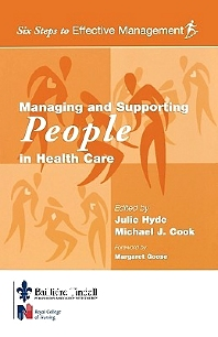 Cover image for Managing and Supporting People in Health Care