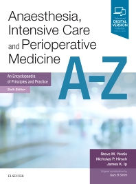 Cover image for Anaesthesia, Intensive Care and Perioperative Medicine A-Z