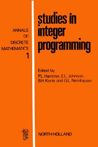 Cover image for Studies in Integer Programming
