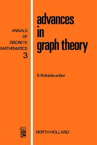 Advances in Graph Theory - 1st Edition - ISBN: 9780720408430, 9780080867663
