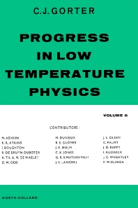Progress in Low Temperature Physics - 1st Edition - ISBN: 9780720412567, 9780080873008