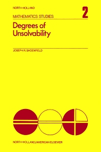 Degrees of Unsolvability - 1st Edition - ISBN: 9780720420616, 9780080871134