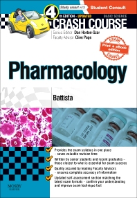 Cover image for Crash Course: Pharmacology Updated Print + eBook edition