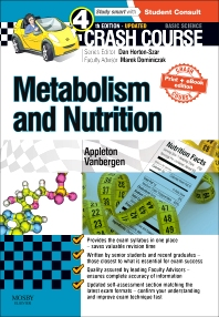 Crash Course: Metabolism and Nutrition: Updated Print + eBook edition - 4th Edition - ISBN: 9780723438533, 9780723438953