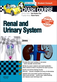 Cover image for Crash Course Renal and Urinary System Updated Print + eBook edition
