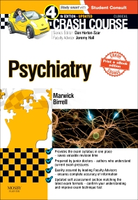 Cover image for Crash Course Psychiatry Updated Print + E-Book Edition