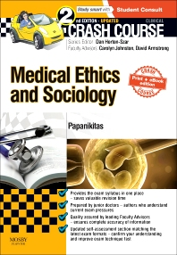 Cover image for Crash Course Medical Ethics and Sociology Updated Print + eBook edition