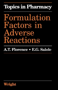 Formulation Factors in Adverse Reactions - 1st Edition - ISBN: 9780723609230, 9781483183626