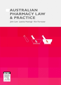 Cover image for Australian Pharmacy Law and Practice