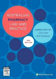Australian Pharmacy Law and Practice - 2nd Edition - ISBN: 9780729581431