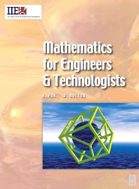Mathematics for Engineers and Technologists, 1st Edition,Huw Fox,W. Bolton,ISBN9780750655446