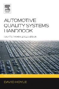 Automotive Quality Systems Handbook, 2nd Edition,David Hoyle,ISBN9780750666633