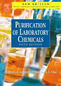 Purification of Laboratory Chemicals - 5th Edition - ISBN: 9780750675710, 9780080515465