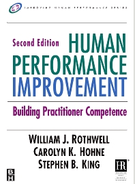 Human Performance Improvement - 2nd Edition - ISBN: 9780750679961