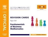 CIMA Revision Card Fundamentals of Business Maths - 2nd Edition - ISBN: 9780750689502, 9780080887296