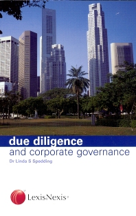 Cover image for Due Diligence and Corporate Governance