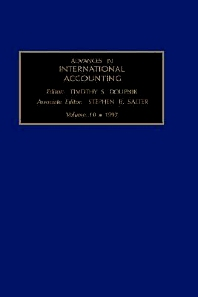 Advances in International Accounting, 1st Edition,S.B. Salter,ISBN9780762301652