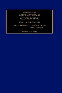 Advances in International Accounting, 1st Edition,S.B. Salter,D.J. Sharp,ISBN9780762303229