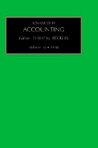 Advances in Accounting, 1st Edition,Philip Reckers,ISBN9780762305131