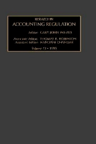 Research in Accounting Regulation - 1st Edition - ISBN: 9780762305209, 9780080943985