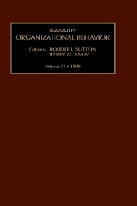 Research in Organizational Behavior, 1st Edition,R.I. Sutton,B.M. Staw,ISBN9780762305735