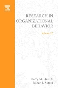 Cover image for Research in Organizational Behavior