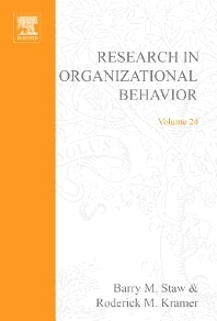 Research in Organizational Behavior - 1st Edition - ISBN: 9780762308781, 9780080544458