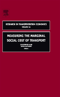 Measuring the Marginal Social Cost of Transport - 1st Edition - ISBN: 9780762310067, 9780080456034