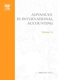 Advances in International Accounting, 1st Edition,J. Timothy Sale,ISBN9780762310562