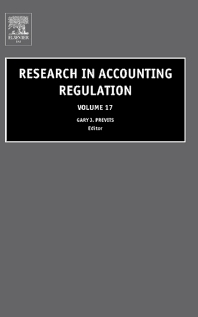 Research in Accounting Regulation - 1st Edition - ISBN: 9780762311316, 9780080545455