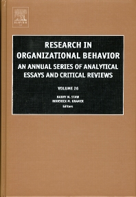 Research in Organizational Behavior - 1st Edition - ISBN: 9780762311804, 9780080525174