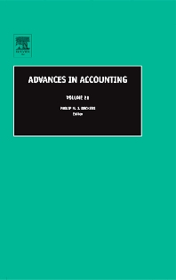 Advances in Accounting - 1st Edition - ISBN: 9780762312030, 9780080460512