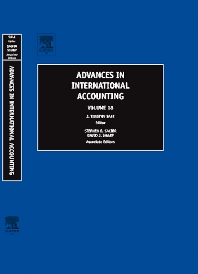 Advances in International Accounting, 1st Edition,J. Timothy Sale,ISBN9780762312351