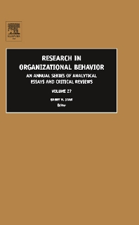 Research in Organizational Behavior - 1st Edition - ISBN: 9780762313358, 9780080480671