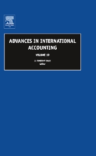 Advances in International Accounting, 1st Edition,J. Timothy Sale,ISBN9780762313617
