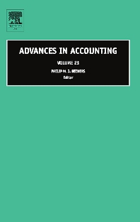 Advances in Accounting, 1st Edition,Philip Reckers,ISBN9780762314256