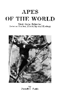 Apes of the World, 1st Edition,Russell H. Tuttle,ISBN9780815511045