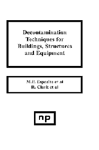 Decontamination Techniques for Buildings, Structures and Equipment, 1st Edition,M.P. Esposito,ISBN9780815511205